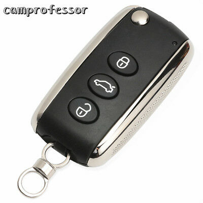 Replacement Flip Remote Car Key Shell Case Cover Fob 3 Buttons for Bentley
