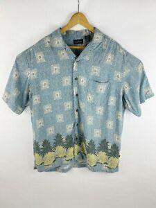Vintage Ocean Pacific Hawaiian Shirt NWOT Men/'s Large Floral Yellow