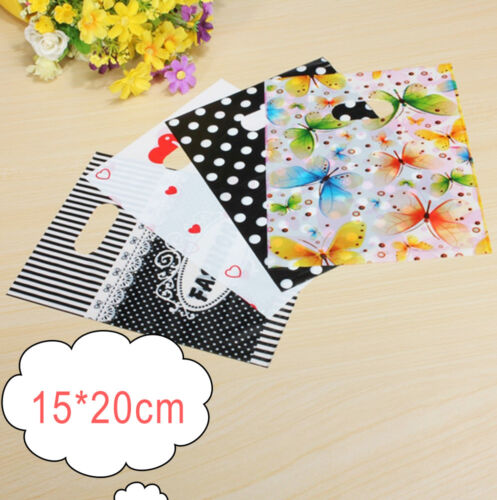 Colorful Printing Plastic Gift Decorated Packing Shopping Bag 15cmx20cm 100PCS