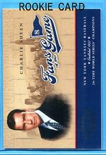CHARLIE SHEEN ~ 2004 Playoff Rookie Card RC #251 ~ New York Yankees ~ Mint!