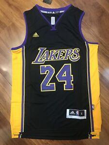 NWT Men's Kobe Bryant #24 Los Angeles Lakers Swingman Jersey Black ...