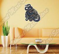 Human Skull Crossbones Snake Wall Sticker Interior Decor 22x22
