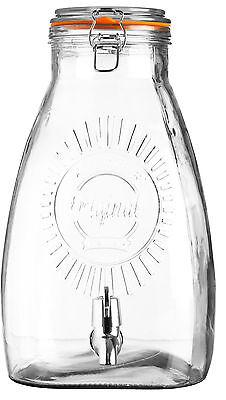 8 Litre Large Kilner Clip Top Storage Drink Wine Beverage Dispenser Jar Tap