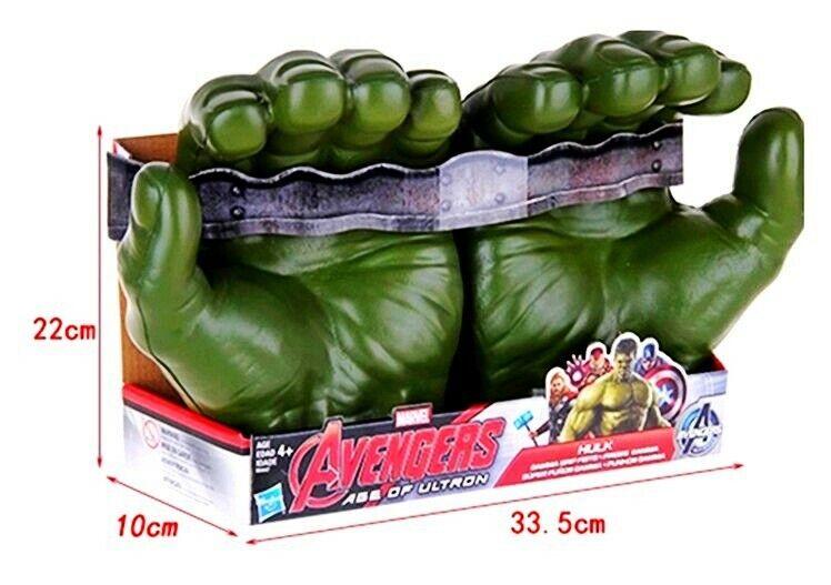 The Incredible HULK Hands Marvel 8.5' Hasbro Avengers Green Gloves