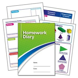 Details about 35 X Green 104 Page Homework Diaries Primary School Record  Book A5 For Children
