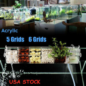 Acrylic-Fish-Tank-5-6-Grids-Aquarium-External-Hanging-Filter-Box-Without-Pump