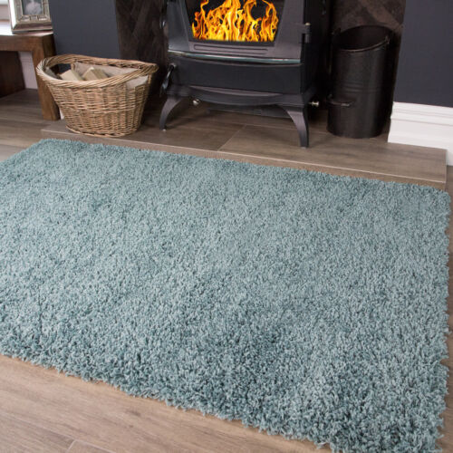 Soft Fluffy Vibrant Bedroom Shaggy Rugs Easy Clean Non Shed Small Bedside Rug UK