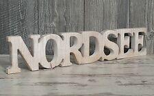 Nordsee Schriftzug aus Holz 60cm braun Buchstaben Wanddeko Maritim Meer Urlaub