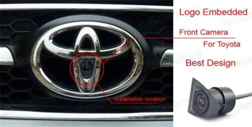 Full HD CCD Car Front View Camera Logo Embedded for Toyota Highlander 2011-2013