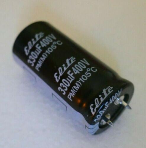 5x Elite 330uF 400v Elko Elektrolyt Kondensator 105 °C Netzteil Glättung
