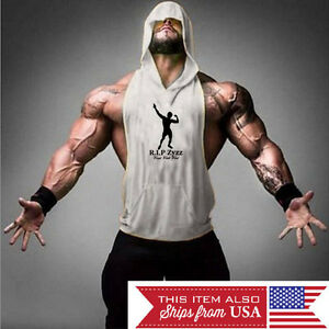 Hoodie Zyzz Tank Stringer Golds Men Bodybuilding Gym Muscle FAST SHIPPING!!