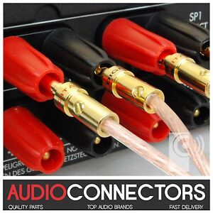 One Pair Pure copper plated banana plugs //Amp terminal plug   Free weld  L3-2