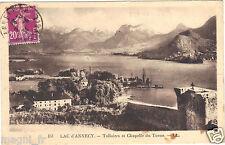 74 - cpsm - Le lac d'Annecy - Talloires et chapelle du Toron ( i 1898)
