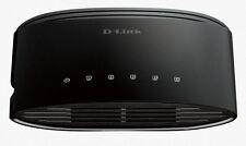 D-Link DGS-1005G 5-Port Gigabit Desktop Green Plastic Case Switch w QoS for VoIP