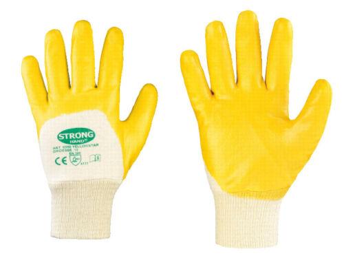 8 gelb Yellowstar Arbeitshandschuhe Gartenhandschuhe 24x Nitrilhandschuhe Gr