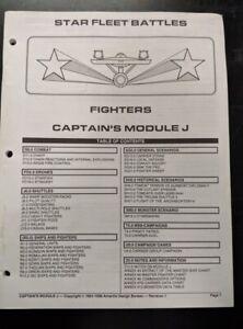 1x-Captain-039-s-Module-J-Fighters-Rulebook-Used-Damaged-Star-Trek-Star-Fleet-Bat