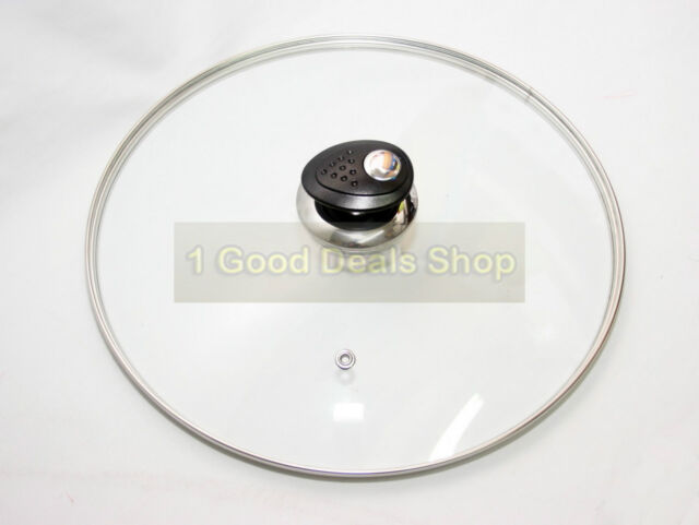 40cm Tempered Glass Saucepan Lid Cookware, Dining & Bar Replacement Vented Lid 28cm Saucepans & Stockpots