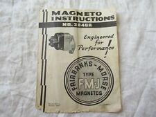 1942 Fairbanks Morse Magneto No 2846a Instruction Manual