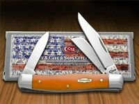 Case Xx Smooth Persimmon Orange Bone Stockman Stainless Pocket Knives Knife on sale