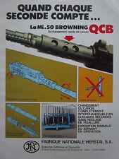 4/1984 PUB FN HERSTAL MITRAILLEUSE MI 50 BROWNING QCB MACHINEGUN FRENCH AD