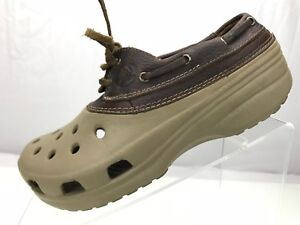 a2a06966769217 Crocs Islander - Lace Up Sport Boat Shoes Loafers Brown Leather ...
