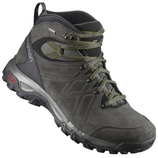 ae403a887a Salomon Evasion Leather Gore Tex Men's Hiking Boots Outdoor Trekking Shoes