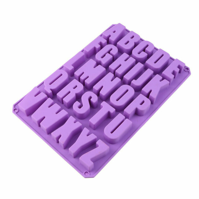Silicone Letter Alphabet Pudding Bakeware Mould Cake Chocolate Ice Maker Mold UI