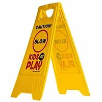 Kids Playing Safety Sign Outdoor Safety (double-sided) - \caution, Slow, Kids At