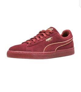 puma suede foil 36609603 men shoes new red tibetan casual