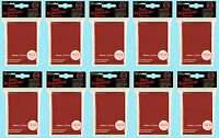 500 Ultra Pro Red Deck Protector Standard Size Card Sleeves 10 Packs Gaming Mtg