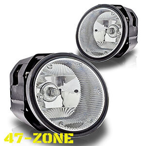 For Nissan Frontier Maxima Sentra Frontier Clear Lens Chrome Housing Fog Lights