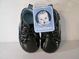 Gerber Baby Boy Tennis Shoe Sneaker Soft Sole Blue White Elephant Size 6-12 M