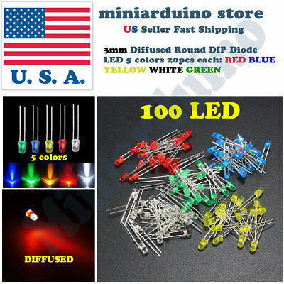 200Pcs 3Mm Red Color Round Led Light Emitting Diode il
