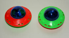 2 Dime Store Toy Plastic Friction UFO Space Toy 1980s Nos New Flying Saucer