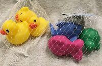 Rubber Duck Ducky Baby Bath Tub Toy & Whale Turtle & Fish For Kids 6 Pcs Total