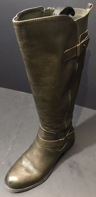 908890661 Naturalizer Womens Joan Wide Calf Knee High Green Lea Leather Boot Size 6.5  W