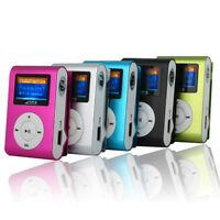 Mini MP3 USB Clip MP3 Player LCD Screen Support 32GB Micro SD TF Card FM Radio