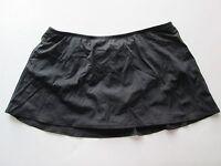 24th & Ocean Womens Tummy Control Skirted Swim Bottoms - Black - Sz 20W - NWOT