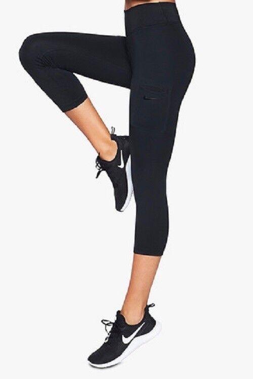 Athletic Women Nike W Nk Pwr Epic Run Crop Pr 831645-010 Women's Activewear
