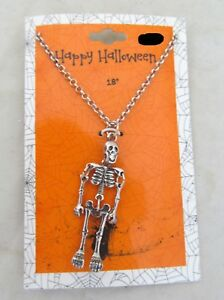 18-034-Day-of-the-Dead-Halloween-Metal-Skull-Skeleton-Bones-Figure-Necklace-Jewelry