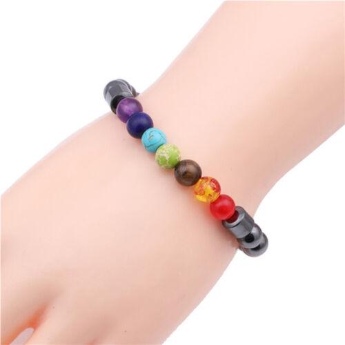 Chakra guérison perlée perle bracelet de perte de poids hématite FYR