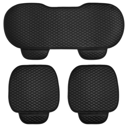 3PCS Set PU Leather Car Front Rear Seat Protect Mat Cover Pad Breathable Cushion