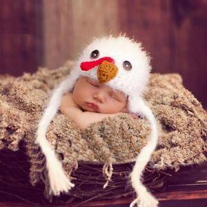 Baby Chicken Hat Farmyard Animal Newborn Photography Prop Baby Hats
