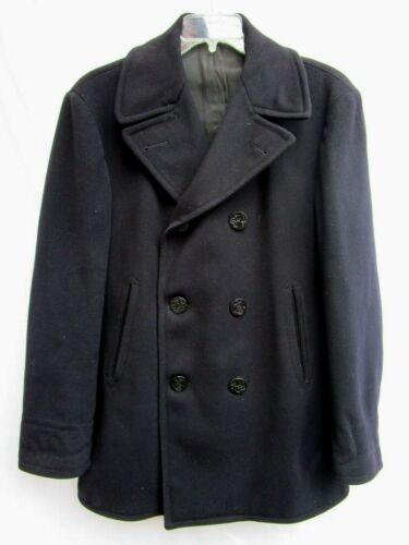 VTG WWII 40s..MILITARY ISSUE..NAVAL..WOOL..PEACOAT