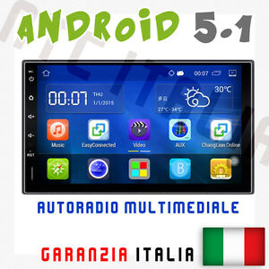 AUTORADIO-2-DIN-ANDROID-FIAT-IDEA-STILO-WIFI-AUX-NAVIGATORE-GPS-USB-BLUETOOTH