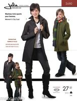 Jalie 3/4 Length City Coat W/collar Or Hood Sewing Pattern 2680 Women & Girls