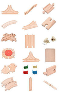 WOODEN-TRAIN-TRACK-TOY-SET-COMPATIBLE-WITH-BRIO-ELC-Railway-Accessories-NT