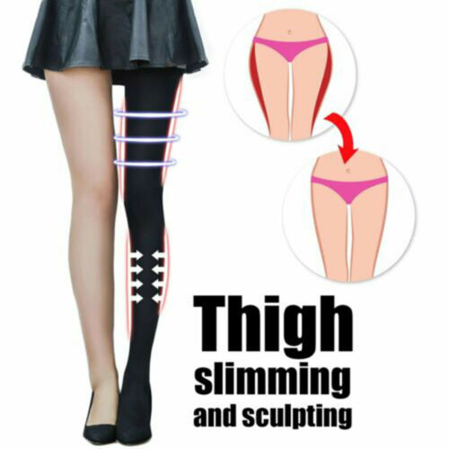 2Size down Compression Pantyhose Sliming Tight Stocking Leg Shaper for Women