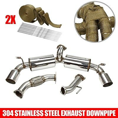 """DUAL 4.5/""""TIP STAINLESS RACING CATBACK MUFFLER EXHAUST SYSTEM FOR W20 MR-2 SW20"""