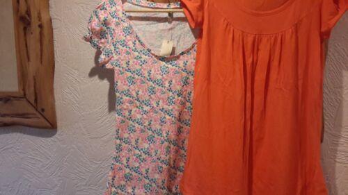 10 cotone fasce floreale Due taglia in 8 arancione PA07UWTH